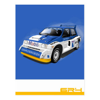 Metro 6R4 Rally Car Postcard