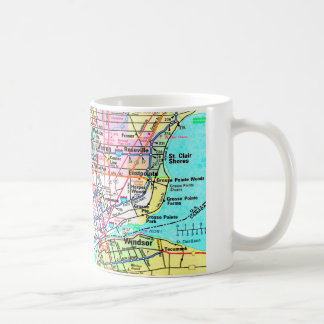 Metro Detroit Map Coffee Mug