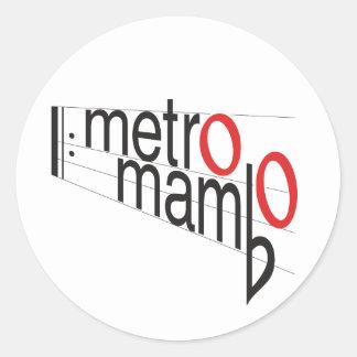 """""""Metro Mambo"""" sticker"""