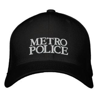 METRO, POLICE EMBROIDERED BASEBALL CAPS