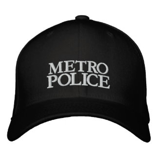 METRO, POLICE EMBROIDERED BASEBALL CAPS