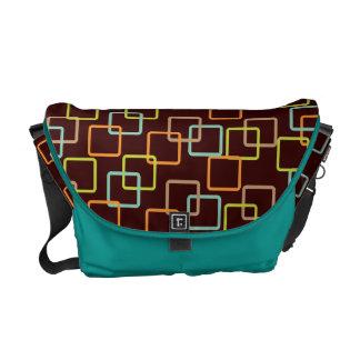Metro Retro Square Pattern Commuter Bags