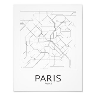 Métro they Paris Fototryck Photographic Print