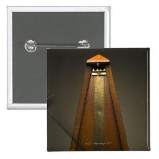 Metronome 2 15 cm square badge