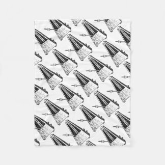 Metronome drawing. Timekeeper Fleece Blanket