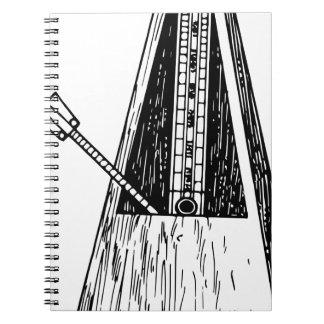 Metronome drawing. Timekeeper Notebook