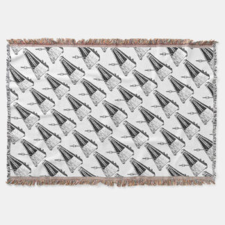 Metronome drawing. Timekeeper Throw Blanket