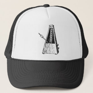 Metronome drawing. Timekeeper Trucker Hat