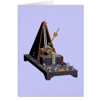 Metronome - Vintage Illustration Card