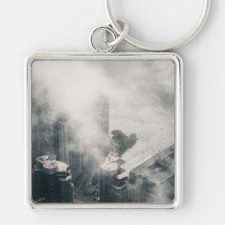 Metropolis #1 Silver-Colored square key ring