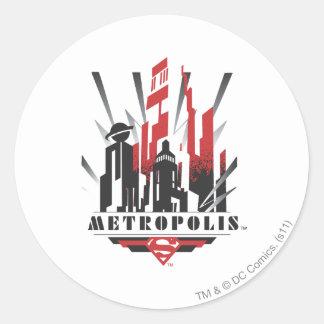 Metropolis Art Deco Round Sticker