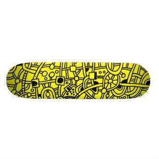 Metropolis II - Black on Yellow Skateboards