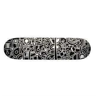 Metropolis III - White on Black Skate Boards