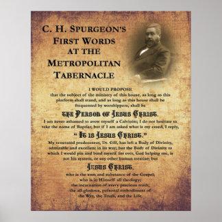 Metropolitan Tabernacle First Words Print