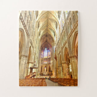 Metz Cathedral  interior ,  France Jigsaw Puzzle