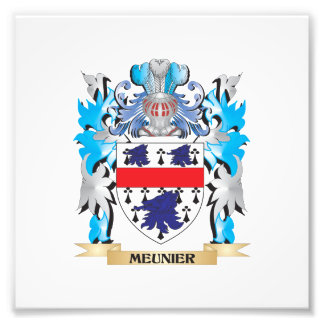 Meunier Coat of Arms - Family Crest Photo Print