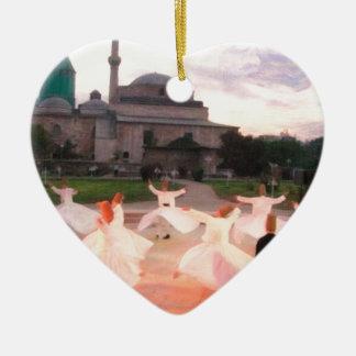 mevlana konya ceramic heart decoration