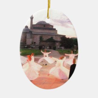 mevlana konya ceramic oval decoration