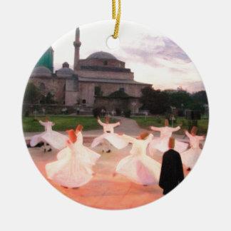 mevlana konya round ceramic decoration