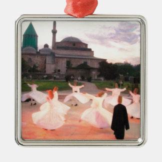 mevlana konya Silver-Colored square decoration