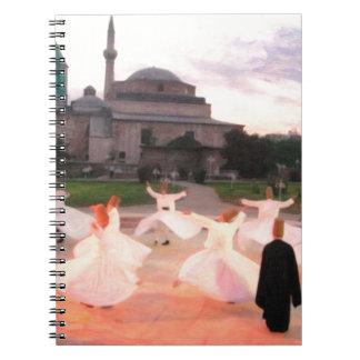 mevlana konya spiral note book