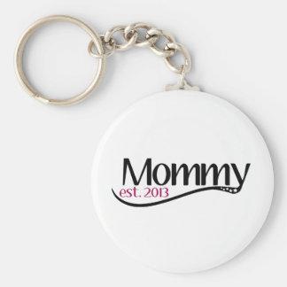 Mew Mommy Est 2013 Keychain