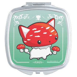 Mewshroom Cute Cat Mushroom Mirror Compact Mirrors