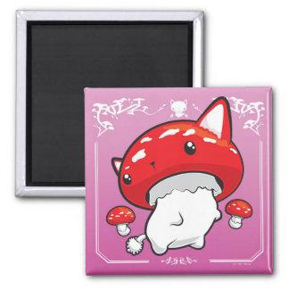 Mewshroom pink magnet cute cat mushroom