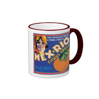 Mex Rio Vintage Crate Label Mugs