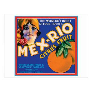Mex Rio Vintage Crate Label Postcard