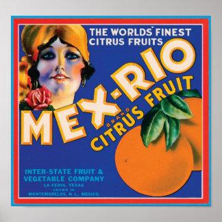 Mex Rio Vintage Crate Label Print