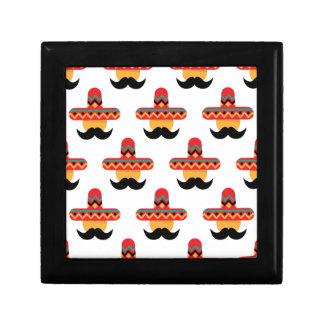 Mexcan moustache small square gift box