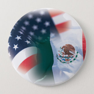 Mexican America Large 4 Inch Button