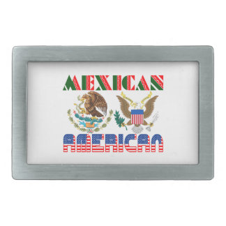 Mexican American Eagles Rectangular Belt Buckles