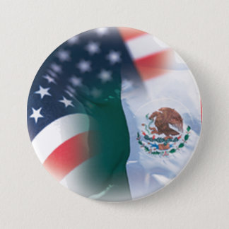Mexican American Large 3 Inch Round Button