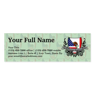 Mexican-American Shield Flag Business Card Templates