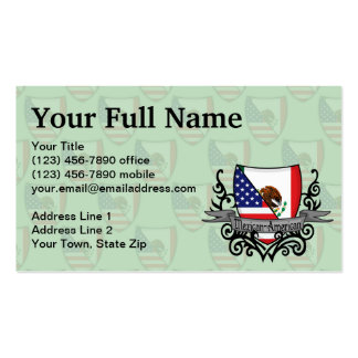 Mexican-American Shield Flag Business Card Template