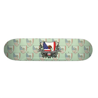 Mexican-American Shield Flag Skateboard Decks