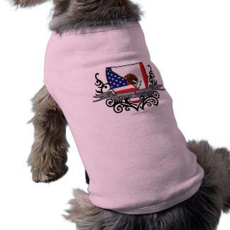 Mexican-American Shield Flag Sleeveless Dog Shirt