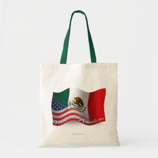 Mexican-American Waving Flag Canvas Bags