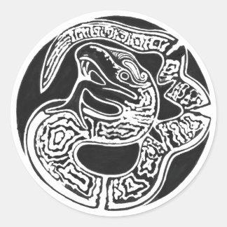Mexican art, rebirth classic round sticker