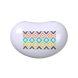 Mexican Aztec Tribal Print Ikat Diamond Pattern Jelly Belly Tin