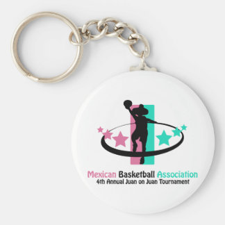 Mexican Basketball Association Basic Round Button Key Ring
