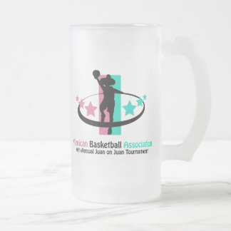 Mexican Basketball Association Frosted Glass Mug