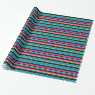 Mexican Blanket Rainbow Stripes