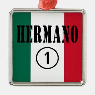 Mexican Brothers Hermano Numero Uno Christmas Ornaments