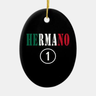 Mexican Brothers Hermano Numero Uno Christmas Tree Ornament