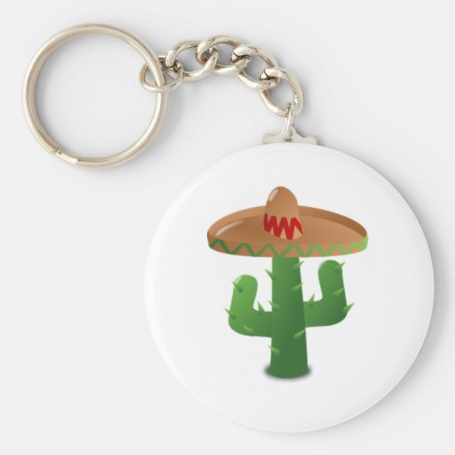 Mexican Cactus Keychain
