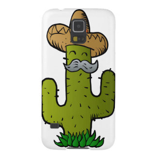 mexican cactus with mustache galaxy s5 cases