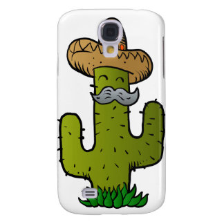 mexican cactus with mustache samsung galaxy s4 case
